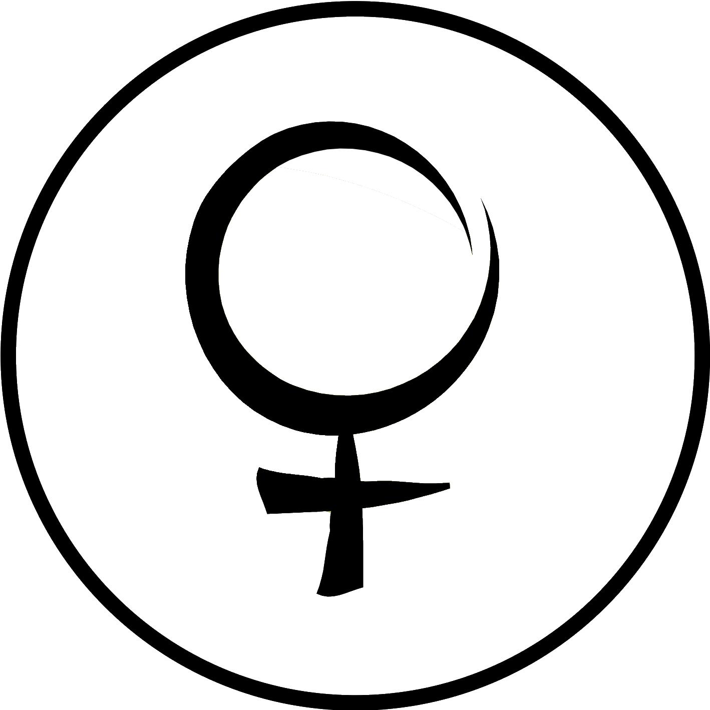 Il simbolo della donna dentro un cerchio